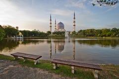 Blue Mosque. The Blue Mosque in Malaysia stock photos