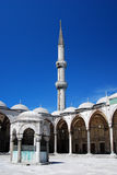 Blue Mosque minaret Royalty Free Stock Photo