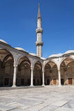 Blue Mosque minaret Royalty Free Stock Photos