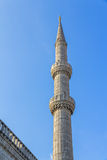 Blue mosque  minaret, Istanbul Royalty Free Stock Images