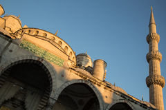 Blue Mosque minaret Royalty Free Stock Images