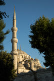 Blue mosque minaret Royalty Free Stock Photography