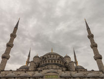 Blue Mosque minarets Istanbul royalty free stock photo