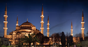 The Blue Mosque at Night Stock Photo