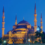 Blue Mosque at night Stock Image