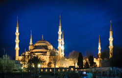 Blue Mosque at night Royalty Free Stock Images