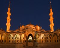 Blue Mosque at Night Royalty Free Stock Image