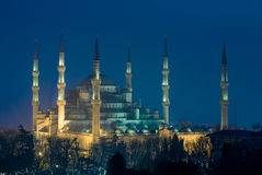 The Blue Mosque at Night Royalty Free Stock Image