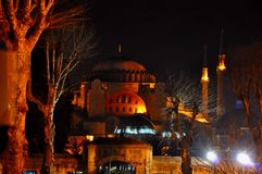 Blue Mosque at night royalty free stock photos