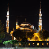 Blue Mosque by night Royalty Free Stock Photography
