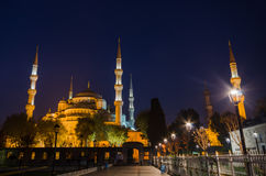 Blue Mosque at night, Istanbul. Stock Photography