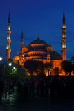 Blue Mosque at night in Istanbul, Turkey Royalty Free Stock Photography