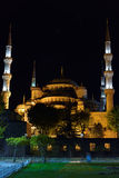 Blue Mosque at night in Istanbul, Turkey Stock Photography