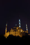 Blue Mosque at night in Istanbul, Turkey Stock Photo