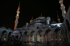 Blue Mosque at Night Stock Photo