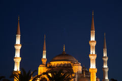 Blue Mosque at night Stock Photography