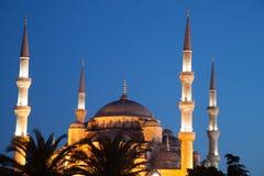 Blue Mosque at night Stock Photos