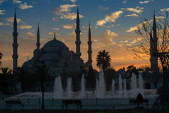 Blue Mosque - night view Stock Images