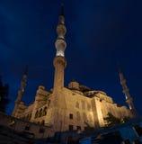 Blue mosque , night. Stock Photo