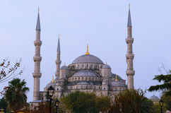 Blue Mosque point of view from Sultanahmet par. Stock Image