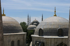 The Blue Mosque and Saint Sophie Cathedral, Istanbul, Turkey. Stock Image