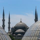 The Blue Mosque and Saint Sophie Cathedral, Istanbul, Turkey. Stock Photography