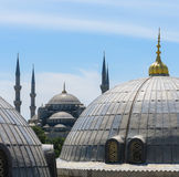 The Blue Mosque and Saint Sophie Cathedral, Istanbul, Turkey. Royalty Free Stock Image