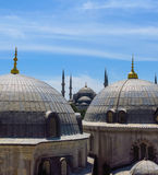 The Blue Mosque and Saint Sophie Cathedral, Istanbul, Turkey. Royalty Free Stock Photography