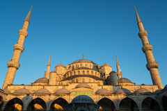 Blue Mosque. The Blue Mosque (Sultan Ahmed Mosque) at the sunset time in Istanbul,Turkey Royalty Free Stock Photos