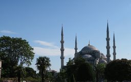 Blue Mosque - Sultan-Ahmet-Camii, in Istanbul, Turkey. Royalty Free Stock Image