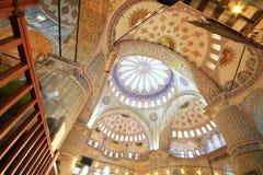 Blue Mosque (Sultanahmet). Interior of the Blue Mosque (Sultanahmet Mosque) in Istanbul, Turkey Stock Image