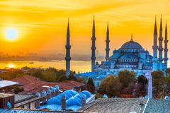 The Blue Mosque, Sultanahmet Camii, Istanbul, Turkey. The Blue Mosque, Sultanahmet Camii,at dusk, Istanbul, Turkey Royalty Free Stock Photos