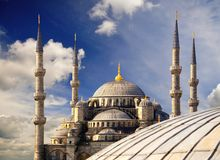 Blue Mosque (Sultanahmet Camii). Royalty Free Stock Image
