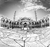 The Blue Mosque, Sultanahmet Camii, Istanbul, Turkey. The Blue Mosque, Sultanahmet Camii, black and white, Istanbul, Turkey Royalty Free Stock Photo