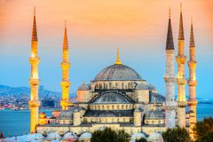 The Blue Mosque, Sultanahmet Camii, Istanbul, Turkey. The Blue Mosque, Sultanahmet Camii, at dusk, Istanbul, Turkey Royalty Free Stock Photo