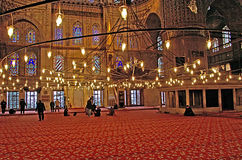 The Blue Mosque Sultanahmet Camii in Istanbul, Turkey in the evening Royalty Free Stock Photography