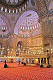 The Blue Mosque Sultanahmet Camii in Istanbul, Turkey in the evening Royalty Free Stock Image