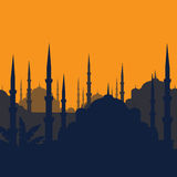 The Blue Mosque, Sultanahmet Camii, Istanbul, Turkey, middle east islamic architecture Stock Images