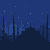 The Blue Mosque, Sultanahmet Camii, Istanbul, Turkey, middle east islamic architecture in Night Stock Photography