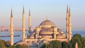 Blue Mosque stock video footage