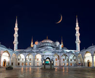 Blue Mosque (Sultanahmet Camii) at night stock photography