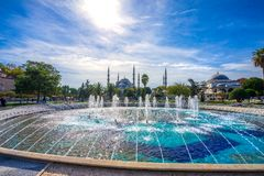 The Blue Mosque, Sultanahmet Camii, Istanbul, Turkey. The Blue Mosque, Sultanahmet Camii, during a sunny day, Istanbul, Turkey Stock Images
