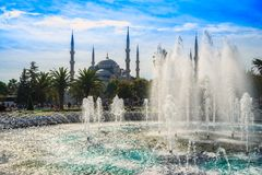 The Blue Mosque, Sultanahmet Camii, Istanbul, Turkey. The Blue Mosque, Sultanahmet Camii, during a sunny day, Istanbul, Turkey Royalty Free Stock Photo