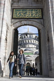 The Blue Mosque in the Sultanahmet district of Istanbul in Turkey. Stock Photo