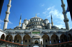 Blue mosque or Sultanahmet in Istanbul Turkey Stock Images