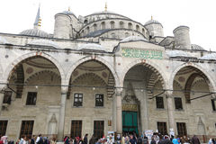 Blue Mosque in Sultanahmet in Istanbul, Turkey. Royalty Free Stock Image