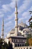 Blue Mosque or Sultanahmet Mosque tour. Sultanahmet Camii. Is the first significant mosque in Istanbul. There are six minarets: four, as usual, on the sides Royalty Free Stock Images