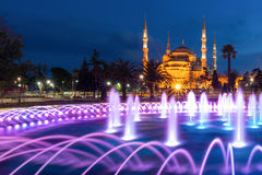The Blue Mosque at Sultanahmet square at Istanbul, Turkey Stock Photo