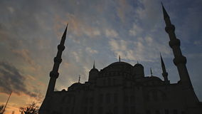 Blue mosque sunset, Istanbul, Turkey Stock Photos