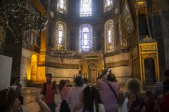 Free Blue Mosque, Tourists Take Pictures Of The Interior. Stock Photography - 150025222